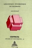 Jack Feuillet - Linguistique synchronique de l'allemand.