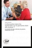 Sandra Franrenet - L'information dans les recherches sur la personne doit-elle évoluer ? - Le contexte de deux cohortes de patients infectés par le VIH.