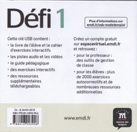 Méthode de français Défi 1 A1. Manuel numérique  avec 1 Clé Usb