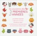 Valeria Manferto de Fabianis et Alessia Gribaudi Tramontana - Coffret Les souvenirs des 3 premières années - Contient : un album, 40 feuilles origami, un livret illustré.