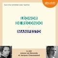 Léonor de Récondo - Manifesto - Suivi d'un entretien avec l'autrice.