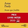 Anne Pauly - Avant que j'oublie.