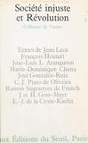 José-Luis l. Aranguren et Marie-Dominique Chenu - Société injuste et Révolution - Colloque de Venise 1968, sous les auspices de Pax Romana et de l'IDO-C.