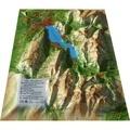 3D Map - Carte en relief du lac d'Annecy - 1/120 000.