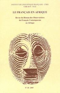 Mbai-yelmia-Ngabo Ndjérassem - Le Français en Afrique N° 20/2005 : Le français au Tchad.