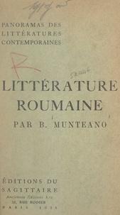 Basil Munteano - Panorama de la littérature roumaine contemporaine.