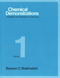 Histoiresdenlire.be CHEMICAL DEMONSTRATIONS. Volume 1, A handbook for teachers of chemistry, édition en anglais Image