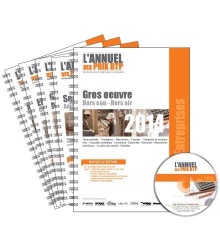 Batiactu Groupe - L'annuel des prix BTP Artisans & Entreprises - Pack 5 volumes : Gros oeuvre - Second oeuvre - Génie climatique, plomberie, sanitaire - Electricité - Aménagements extérieurs.
