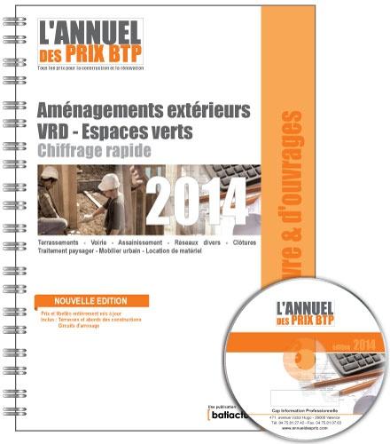 Batiactu Groupe - L'Annuel des prix BTP - Aménagements extérieurs - VDR - Espaces verts.
