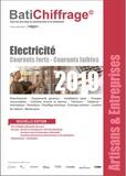 BatiChiffrage et  Batiactu Groupe - Electricité - Courants forts, courants faibles.