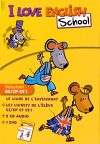 Bayard - I Love English School Débutant GS/CP-CE1 - Le kit enseignant. 1 DVD + 2 CD audio
