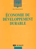 Beat Bürgenmeier - Economie du développement durable.