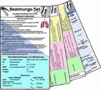 Beatmungs-Karten-Set - für Einsteiger - Medizinische Taschen-Karte - Bestehend aus: Beatmung - Grundlagen, Einstellungen & Normwerte; Beatmung - Fehlermeldungen, Ursachen & Behebung, Beatmung - Abkürzungen & Normwerte- Beatmung - Fehlermeldungen, Ursachen & Normwerte.