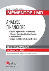 Béatrice Grandguillot et Francis Grandguillot - Analyse financière 2014-2015.