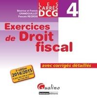 Deedr.fr DCG 4 Exercices de droit fiscal - Avec corrigés détaillés Image