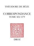 Béatrice Nicollier-De Weck et Alain Dufour - Correspondance. Tome XX, 1579.