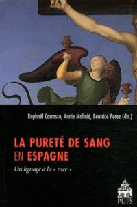 """Béatrice Perez et Raphaël Carrasco - La pureté de sang en Espagne - Du lignage à la """"race""""."""