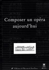 Histoiresdenlire.be Composer un opéra aujourd'hui - Actes de la journée d'étude du 13 mai 2003 Image