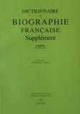 Béatrice Wattel - Dictionnaire de biographie française Supplément - Tome1 Fascicule 2, Babelon-Bazin.