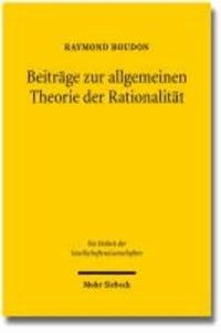 Beiträge zur allgemeinen Theorie der Rationalität.