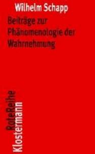Beiträge zur Phänomenologie der Wahrnehmung.