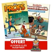 BeKa et  Poupard - Les profs tome 1, Virus au Bahut ; Les Petits Rugbymen tome 2, l'interro et la surprise - Pack 2 volumes.