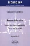 Belgacem Jarray - Réseaux industriels : bus, interfaces, éthernet industriel, hart - Cours et exercices corrigés.