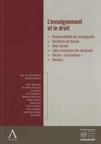 Bénédicte Biemar - L'enseignement et le droit - Colloques de la Conférence libre du jeune barreau de Liège.
