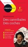 Bénédicte Boudou - Des cannibales, Des coches, Montaigne - Bac 1re générale & techno.