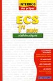 Bénédicte Bourgeois - Mathématiques ECS 1e année.