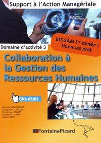 Bénédicte Bousquet et Laurence Casasola - Collaboration à la gestion des ressources humaines BTS SAM 1re année / licences professionnelles - Domaine d'activité 3.
