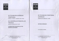 Bénédicte Demski - Réussir les concours de technicien territorial supérieur - 2 modules.
