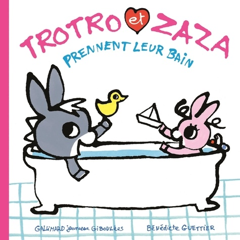 Trotro et Zaza  Trotro et Zaza prennent leur bain