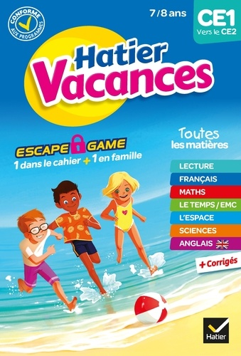 Bénédicte Idiard et Damien Catala - Cahier de vacances 2020 du CE1 vers le CE2 7/8 ans.