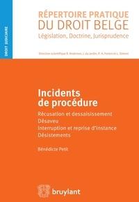 Bénédicte Petit - Incidents de procédure, récusation et dessaisissement, désaveu, interruption et reprise d'instance.