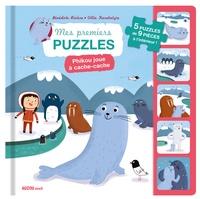Bénédicte Rivière et Villie Karabatzia - Phikou joue à cache-cache - Avec 5 puzzles de 9 pièces à l'intérieur !.