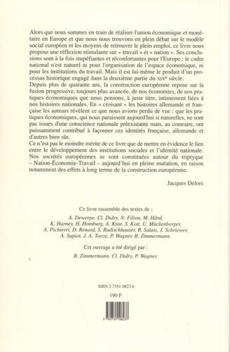 Le travail et la nation. Histoire croisée de la France et de l'Allemagne
