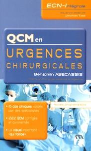 Benjamin Abécassis - QCM en urgences chirurgicales.