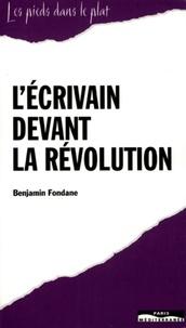 Benjamin Fondane - L'écrivain devant la révolution - Discours non prononcé au Congrès international des écrivains de Paris, 1935.