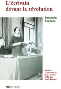 Pda books télécharger L'écrivain devant la révolution