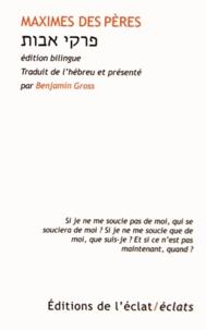 Benjamin Gross - Maximes des pères.
