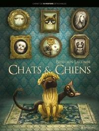 Benjamin Lacombe - Chats et chiens - Carnet de 15 posters détachables.
