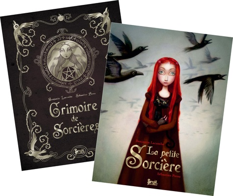Benjamin Lacombe et Sébastien Perez - Généalogie d'une sorcière - Coffret 2 tomes : Grimoire de Sorcières ; La Petite Sorcière.