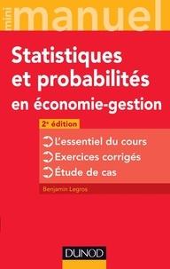 Benjamin Legros - Statistiques et probabilités en économie-gestion.