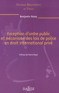 Exception dordre public et mécanisme des lois de police en droit international privé.pdf
