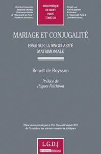 Mariage et conjugalité - Essai sur la singularité matrimoniale.pdf