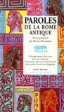 Benoît Desombres et  Collectif - Paroles de la Rome antique.