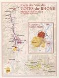 Benoit France - Carte des vins des Côtes-du-Rhone septentrionales et vignobles limitrophes.