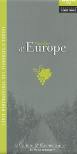 Vignobles d'Europe- Carte géographique des vignobles d'Europe -  Benoit France |