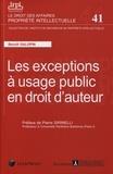 Benoît Galopin - Les exceptions à usage public en droit d'auteur.
